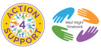 Action4Support and West Wight Timebank Logos